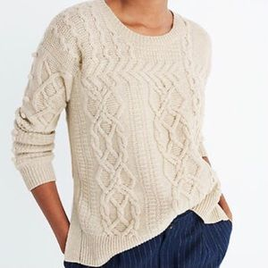 Madewell Open-Side Bobble Sweater Merino Wool, Med